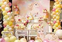 lfeeyポリエステルキッズ誕生日パーティーバックドロップケーキスマッシュ写真背景布