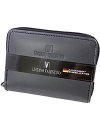 [LUCIANO VALENTINO(L-バレンチノ)] コンパクト財布&定期入れ 紳士用 luv7008-bk 黒(ブラック) 【箱無し】