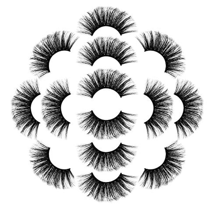 しつけいろいろ目指すラグジュアリー7ペア8Dつけまつげふわふわストリップまつげロングナチュラルパーティーメイク