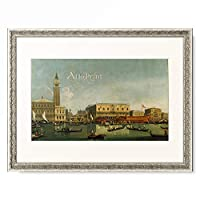 School of Antonio Canaletto カナレット 「Doge's Palace a. St. Mark's Square」 額装アート作品