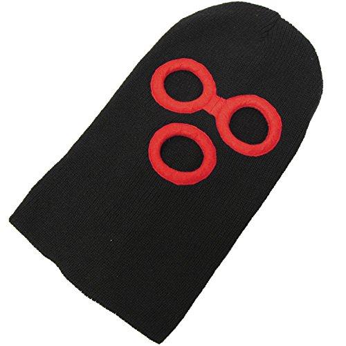 フェイスマスク(目だし帽 ニット帽) デストロイヤー ブラック