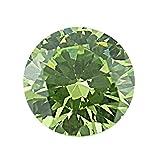 (cocolover)ココローバー ペリドットグリーンカラーラウンドカットキュービックジルコニアルース(6.0mm)10ピース