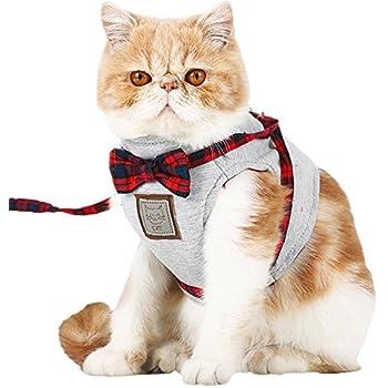 【Momugs Akira】ペット用品 猫 牽引ロープ 散歩 が楽しくなる選べる ネクタイ 洋服 蝶結び  胸あて式 犬用リード 中型犬 大型犬 ハーネス ソフト 軽量 吸汗速乾 首輪 胴輪 おでかけ 簡単脱着式 可愛い猫 牽引ロープ