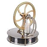 masyourin 低温度差 スターリングエンジン 面白い低温モータモデル スターリングエンジンクール 蒸気教育 実験科学 (ゴールド)