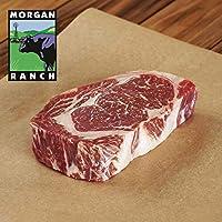 モーガン牧場ビーフ アメリカ産 牛肉 熟成 高品質 厚切りリブロースステーキ プレミアム アメリカンビーフ ホルモン剤や抗生物質不使用 380g