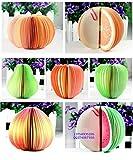 リアル!かわいい!立体フルーツ&野菜メモ用紙(8種類ランダムセット) クリップ/網ネット付き