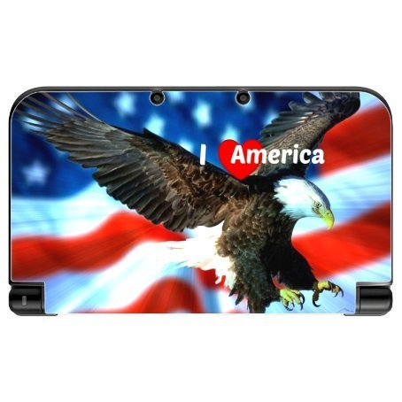 I Love America Quote USA Flag with Eagle Design Print Image New 3DS XL 2015 Vinyl Decal Sticker Skin by Trendy Accessories by Trendy Accessories [並行輸入品] Trendy Accessories