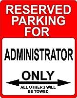 """管理者Occupation予約駐車場のみOthers Towed飾りサイン12"""" x18""""アルミ。"""