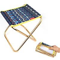 LongyuアウトドアFold Stool 7075アルミニウム合金大人用ミニポータブルバーベキュー釣り椅子スツールTrain cimaza