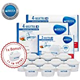 BRITA MAXTRA+ 11-Pack Water Purifier Filter Cartridge Refill Kitchen Accessory - White and 1 Bonus Filter Included