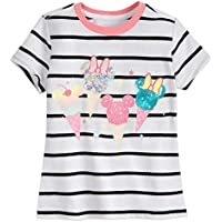 Disney Mickey and Minnie Mouse Sequin Ice Creams T-Shirt for Girls- Size 10/12