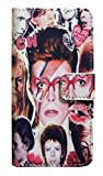 【David Bowie】デヴィット・ボウイ カレッジ iPhone7/iPhone8ケース カバー ウォレットタイフ? 手帳型 [並行輸入品]