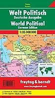 Welt politisch 1 : 35 000 000. Deutsche Ausgabe. Plano in Rolle