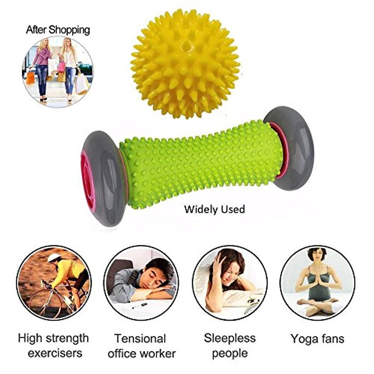 許す放出露出度の高いフットマッサージローラー - アメージングモール - 理想的な足の痛みの救済マッサージ - フットマッサージャーのためのヒールスパー - 効果的なローラーの足のローラーマッサージ - 推奨フットマッサージャーランナー - 1ローラーと1つのスパイクボールが含まれています