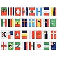 SODIAL ロシアワールドカップ フットボールバングニング国旗ガーランドパーティーデコレーション