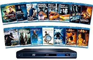 ユニバーサル・ブルーレイ おためしパック!(ブルーレイディスク15枚+ブルーレイ再生機) [Blu-ray]