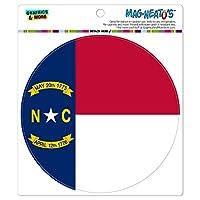 ノースカロライナ州旗 - サークル MAG-格好いい'S(TM)カー/冷蔵庫マグネット