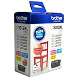 Brother Genuine LC3319XL High-Yield Colour Ink Cartridge Value Pack, Three Pack, Includes 1 Cartridge Each of Cyan, Magenta &