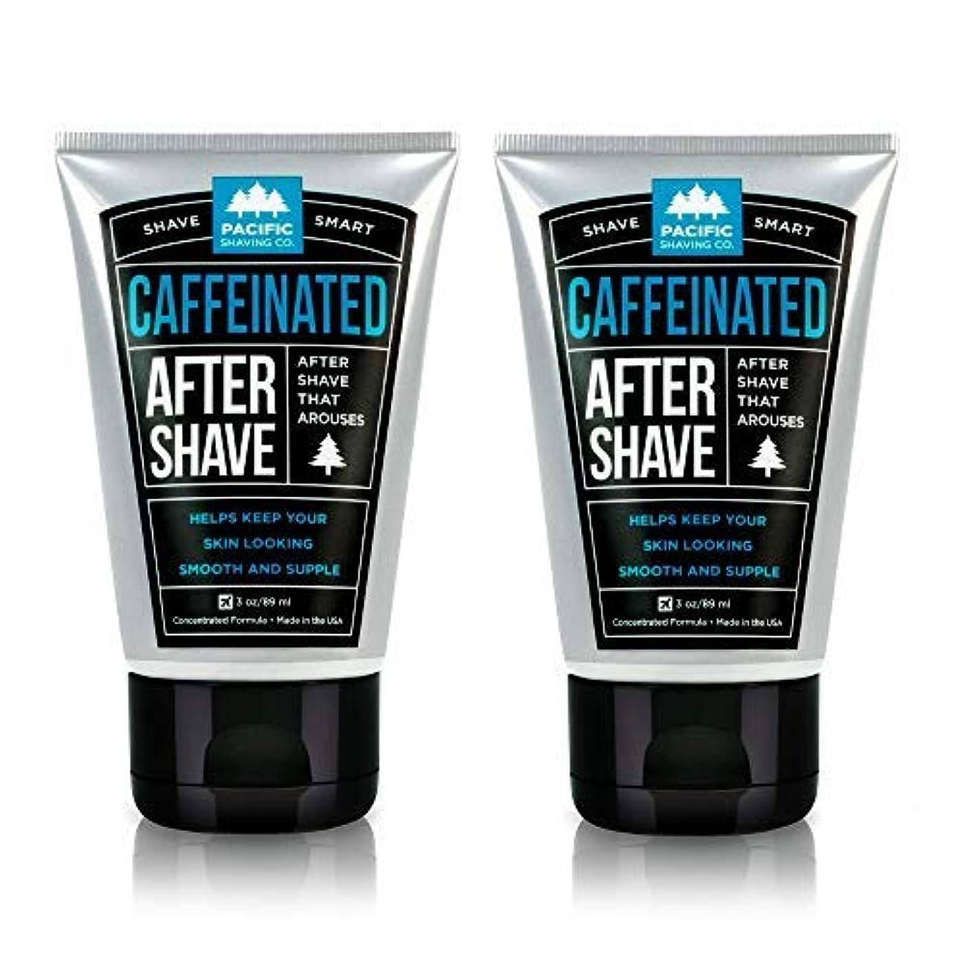 主流虚偽ゴミ箱を空にするPacific Shaving Company Caffeinated Aftershave 2 Pack [並行輸入品]