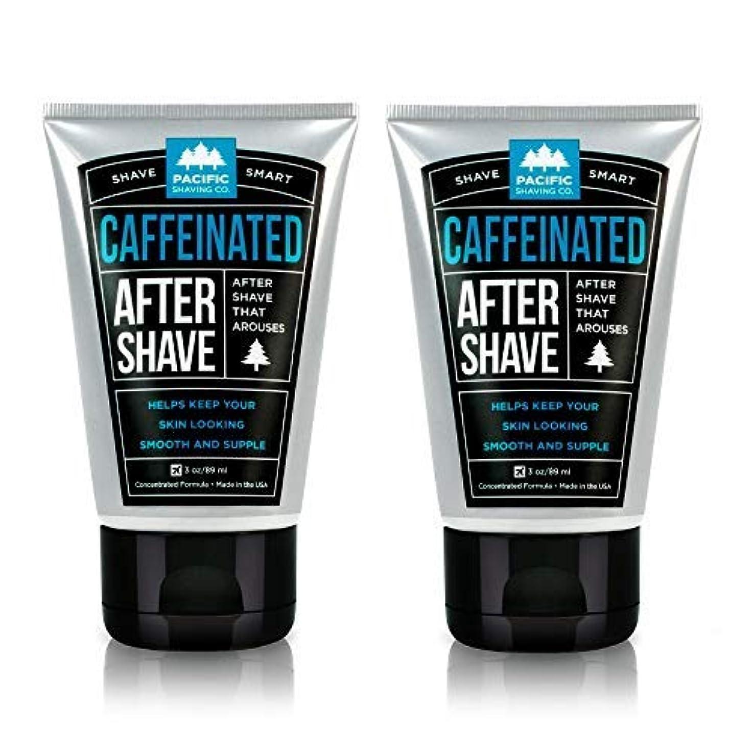 十分です騒乱メディアPacific Shaving Company Caffeinated Aftershave 2 Pack [並行輸入品]