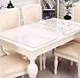 Eternal Wings テーブルクロス PVC製 テーブルマット デスクマット テーブルクロス 長方形 防水 撥水加工 耐久 汚れつきにくい 透明1mm/1.5mm/2mm