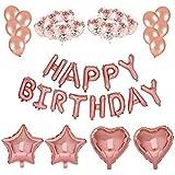 Yajianzh 誕生日の装飾のための紙の紙吹雪の点のドットのローズゴールドバルーンパーティーバルーン バルーン (Color : RoseGold)