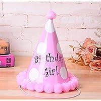 Showking クリエイティブパーティーハット 誕生日パーティー用品 ビッグ ホワイト ドットコーン ハット 小さいソフトボールキャップ_ピンク