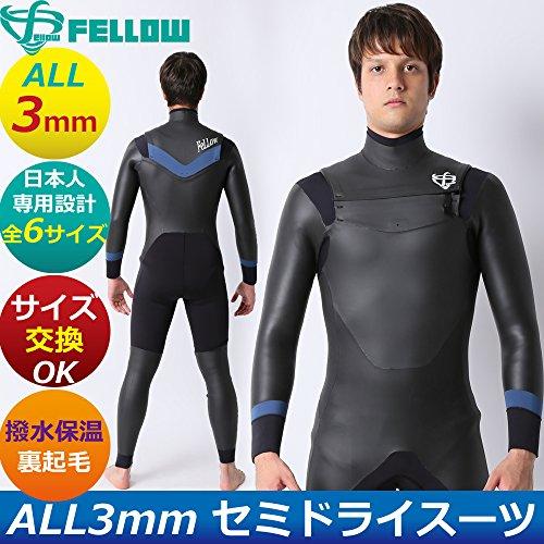 [해외]세미 드라이 잠수복 ALL3mm 논 지퍼 모델 발수 보온 기모 일본 규격품 남성 잠수복/Semi-dry type wet suit ALL 3 mm non-zip model water repellent keep warm brushed Japanese standard products men`s wetsuits