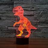 youzone Magicalパネル3d光学式ビジュアル化イリュージョン7色変更USBタッチスイッチテーブルランプBulbing LEDライト夜間照明ホーム装飾家庭用ライト( Motorcycle ) Dinosaure1