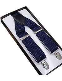吊りバンド サスペンダー Y型 紳士用 フォーマル ビジネス 結婚式 伸縮性良い 調節可能 ゴム製 男女兼用 クリップ式