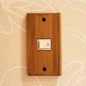 木製スイッチプレート (1口)