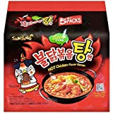Samyang Hot Chicken Stew Ramen, 145g, (Pack of 5)