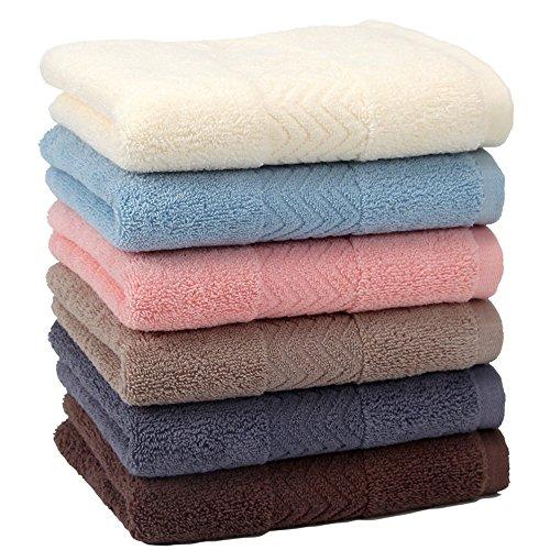 フェイスタオル KISENG 綿100% やわらか 吸水速乾 家庭用 業務用 100g 34x76cm 6枚セット