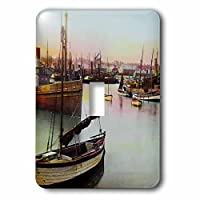 3drose LSP 246243_ 1Vintage Victorian Lowestoft Fishing Boats England British Hand Colored Single切り替えスイッチ