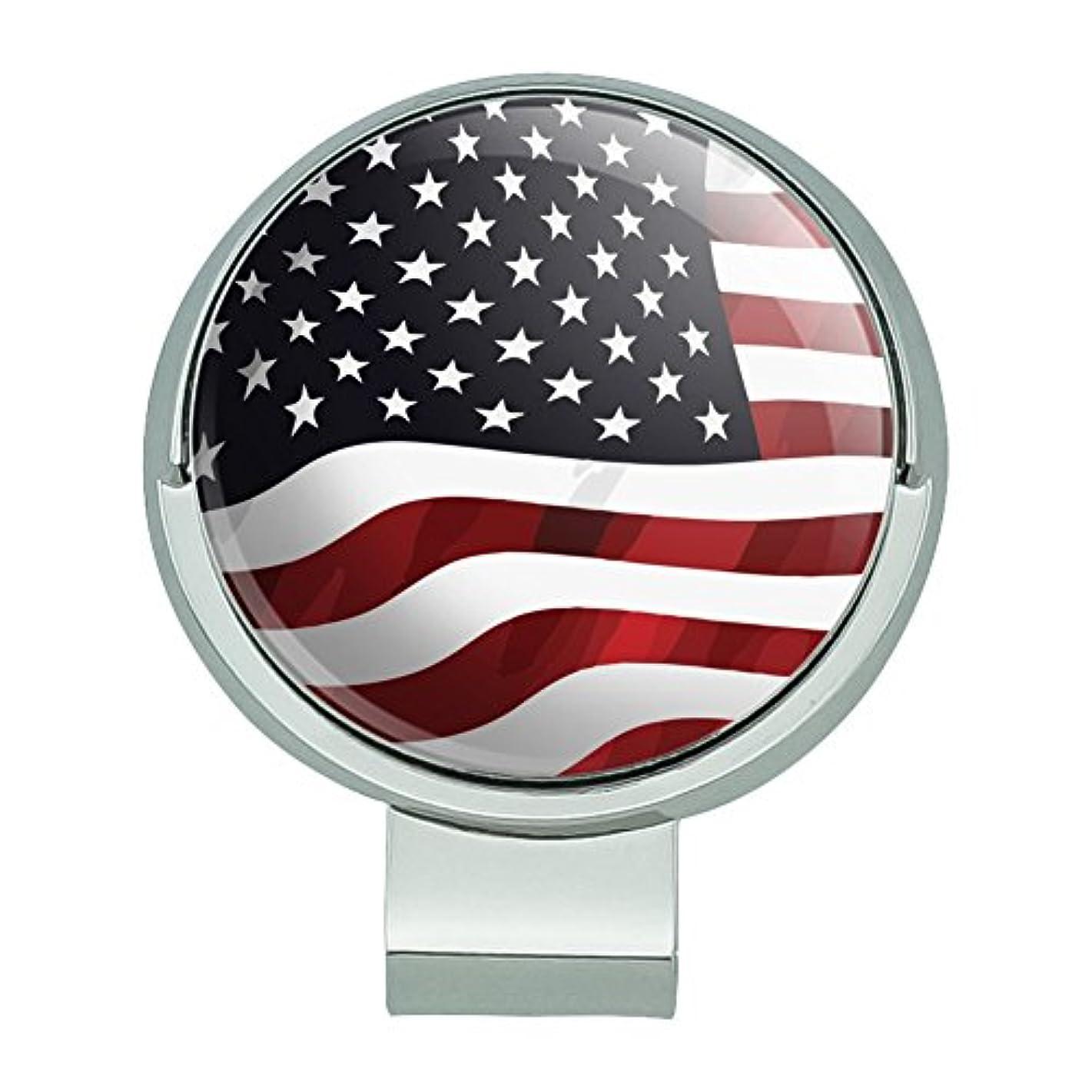 説明的たくさんスリチンモイアメリカアメリカの旗の星と縞磁気ボールマーカー付きゴルフハットクリップ