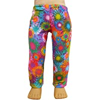 Colourful Floral Splatter Leggings for 46cm American Girl Dolls