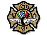 Maltese Shaped FSD Indianapolis Speedway Sticker ( Fire消防士Dept )