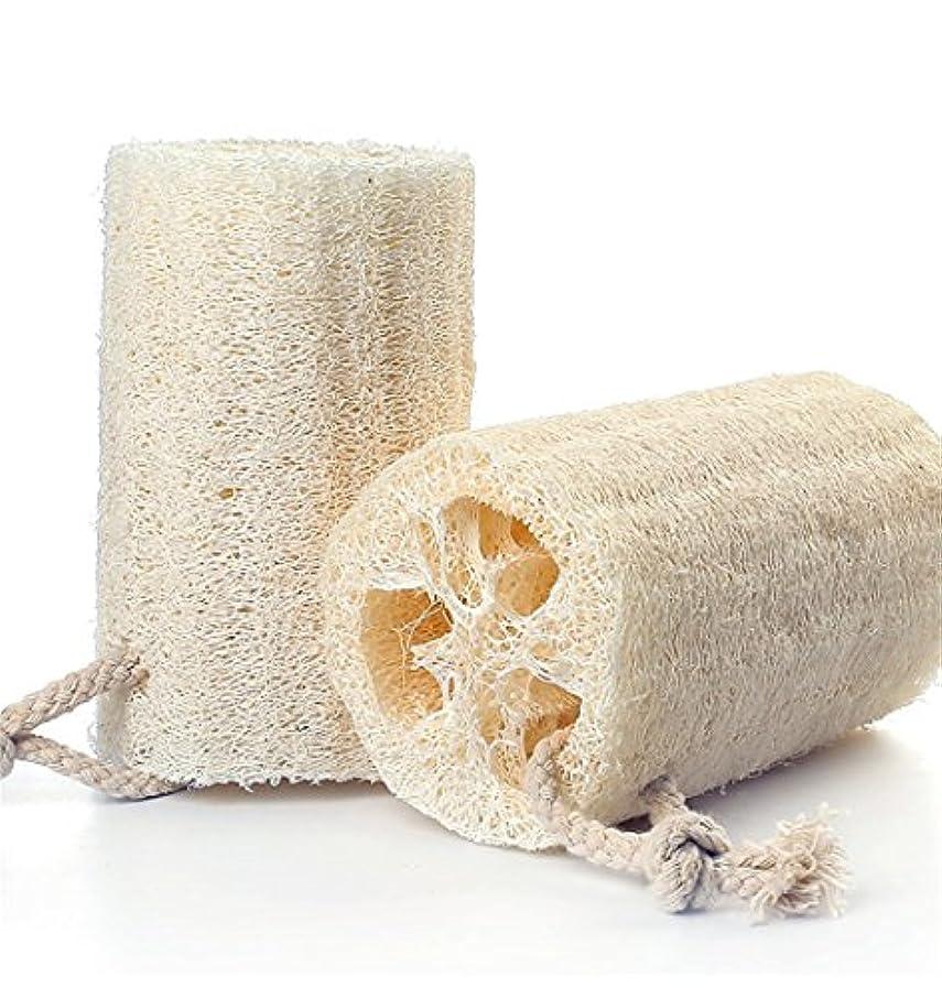 伝える蒸し器フォアマンZOMTOP天然ヘチマ ボディスポンジ シャワースポンジ ボディブラシ シャワーブラシ 風呂スポンジ 新陳代謝を促進 角質除去 原色 ひも付き (3個入り)