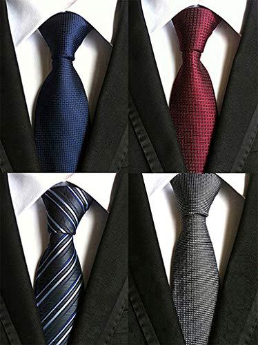 BESTOD メンズネクタイ 洗える ビジネス プレゼント 4本セット