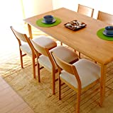 ISSEIKI ダイニング7点セット 165×80㎝ 7人用 チェア ベージュ 木製 テーブルのみ大型開梱設置便 【ER-01-29】