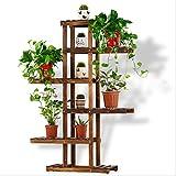 室内植物ラック竹フラワーラック多段バルコニーフラワーポットディスプレイスタンド ( 色 : ブラウン ぶらうん )