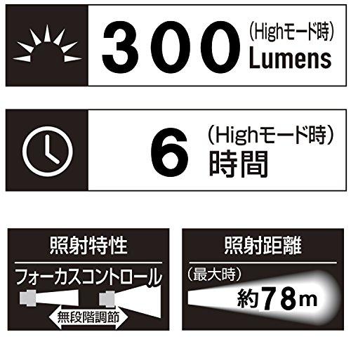 ジェントス LED ヘッドライト USB充電式 【明るさ300ルーメン/実用点灯6時間/耐水】 GH-001RG