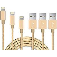 【3本セット】EONFINE USB充電ケーブル ライトニング 急速充電 高速データ転送対応 高耐久ナイロンiPhone、iPad、iPod各種対応