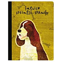 Tree-Free Greetings English Springer Spaniel Soft Cover 140 Page Recomposition College Ruled Notebook 9.75 x 7.25 (CJ47484) [並行輸入品]