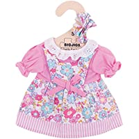 Bigjigs Toys Pink Floral Rag Doll Dress for 28cm Soft Doll with Additional Matching Hair Accessories