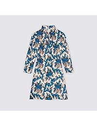 (サンドロ) Sandro WOMEN`S LONG-SLEEVED PRINTED DRESS レディース 長袖 プリント ドレス (並行輸入品)