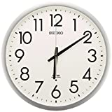 セイコー クロック 掛け時計 電波 アナログ オフィスタイプ 銀色 KS265S SEIKO