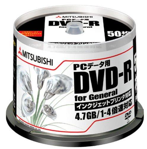 三菱化学 4.7GB DVD-R PCデータ用 50枚パック DHR47YP50V-EC