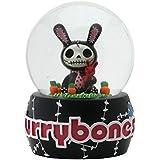 Furry Bones ウォーターグローブ Black Bun Bun Water Globe