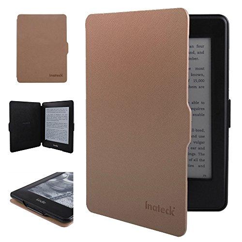 Inateck Kindle Paperwhite用 Microfibril PU レザーケース マグネット付き ブラウン(Kindle Paperwhite専用)